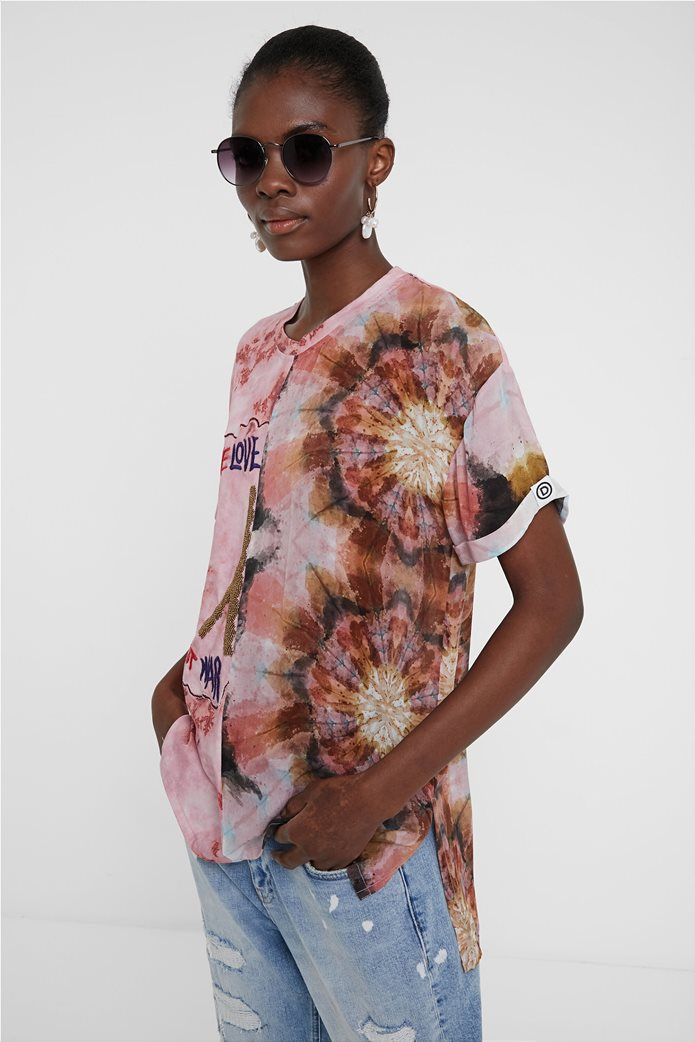 "Desigual γυναικεία μπλούζα Floral Effect ""Βlus Padua"" 2"