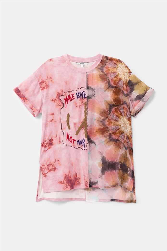 "Desigual γυναικεία μπλούζα Floral Effect ""Βlus Padua"" 4"
