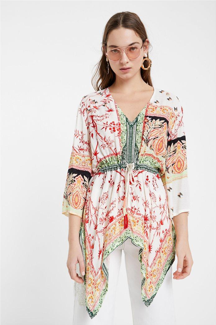 "Desigual γυναικεία μπλούζα με ethnic prints ""Mantua"" 0"