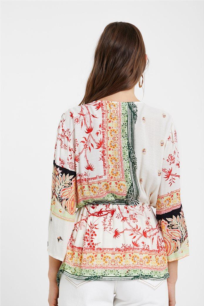 "Desigual γυναικεία μπλούζα με ethnic prints ""Mantua"" 3"