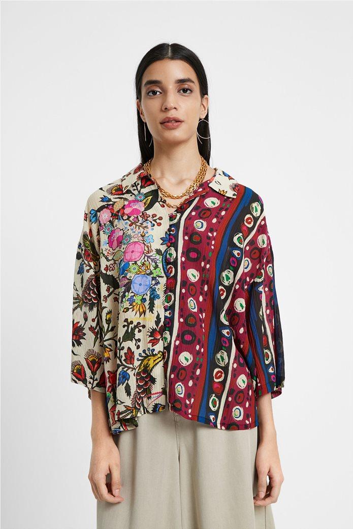 "Desigual γυναικείο εμπριμέ πουκάμισο ""Florence By M. Christian Lacroix "" 0"