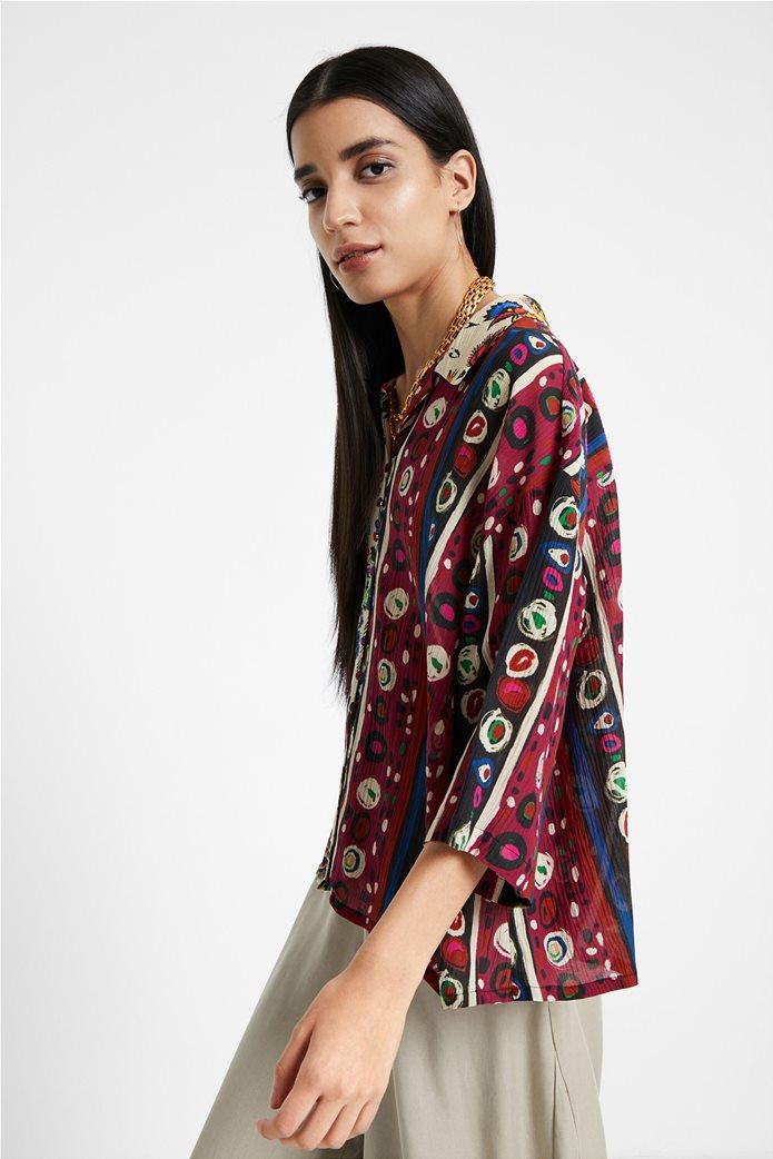 "Desigual γυναικείο εμπριμέ πουκάμισο ""Florence By M. Christian Lacroix "" 1"