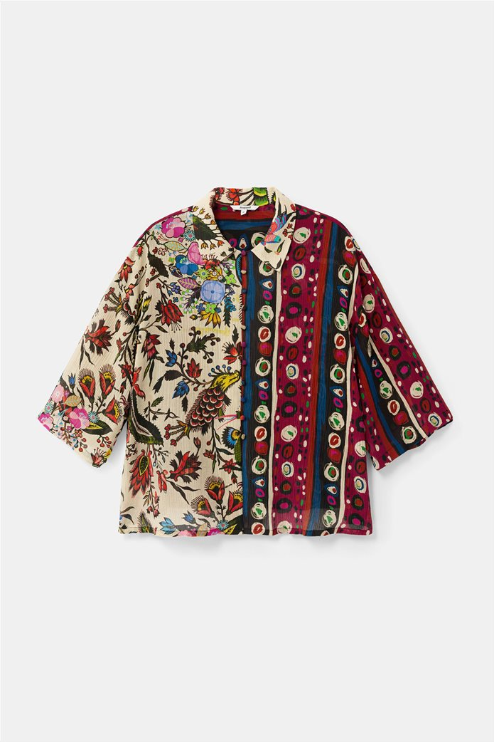 "Desigual γυναικείο εμπριμέ πουκάμισο ""Florence By M. Christian Lacroix "" 5"