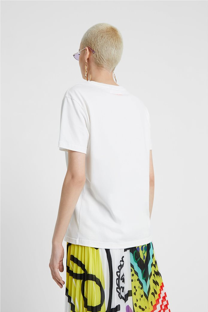 "Desigual γυναικείο T-shirt ""Love Yourself"" Λευκό 2"