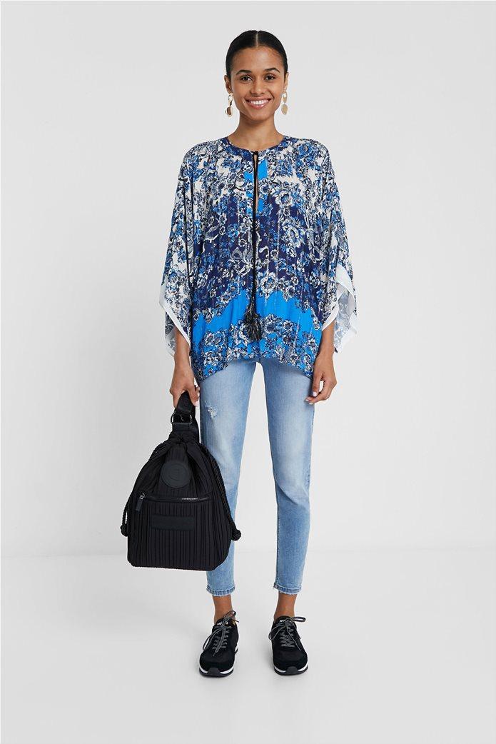 "Desigual γυναικεία μπλούζα με flower print ""Atenas"" 0"