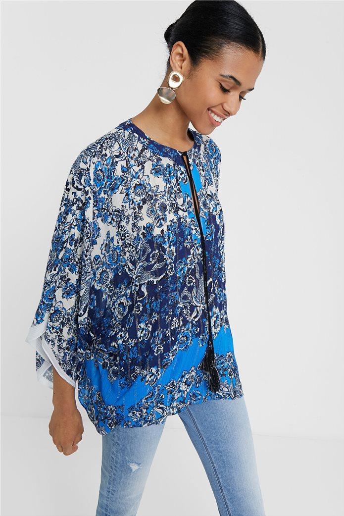 "Desigual γυναικεία μπλούζα με flower print ""Atenas"" 1"