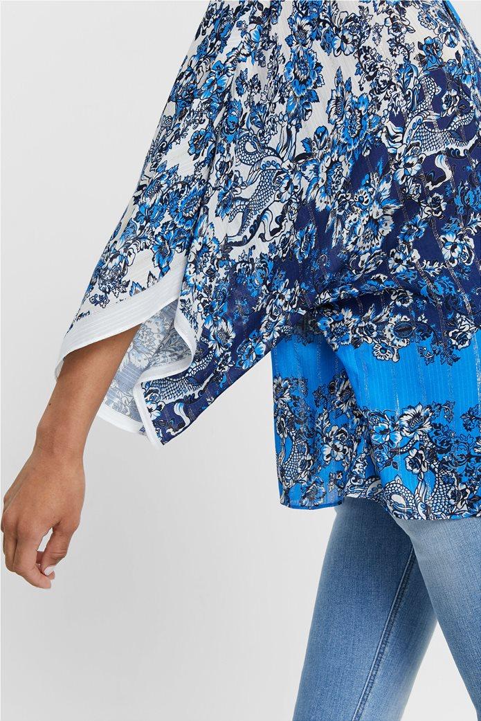 "Desigual γυναικεία μπλούζα με flower print ""Atenas"" 4"