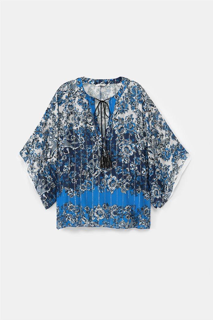 "Desigual γυναικεία μπλούζα με flower print ""Atenas"" 6"