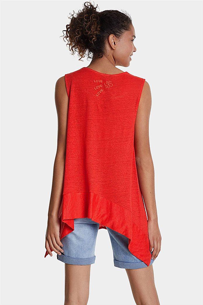 "Desigual γυναικεία αμάνικη μπλούζα με floral print ""Phil"" 2"