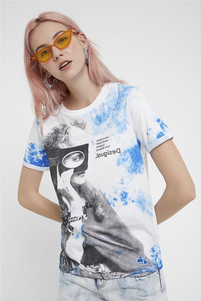 Desigual γυναικείο T-shirt με graphic print 0