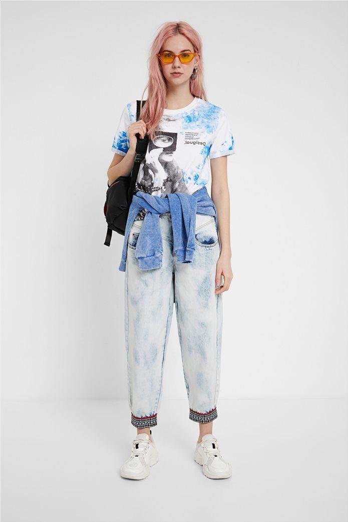 Desigual γυναικείο T-shirt με graphic print 1