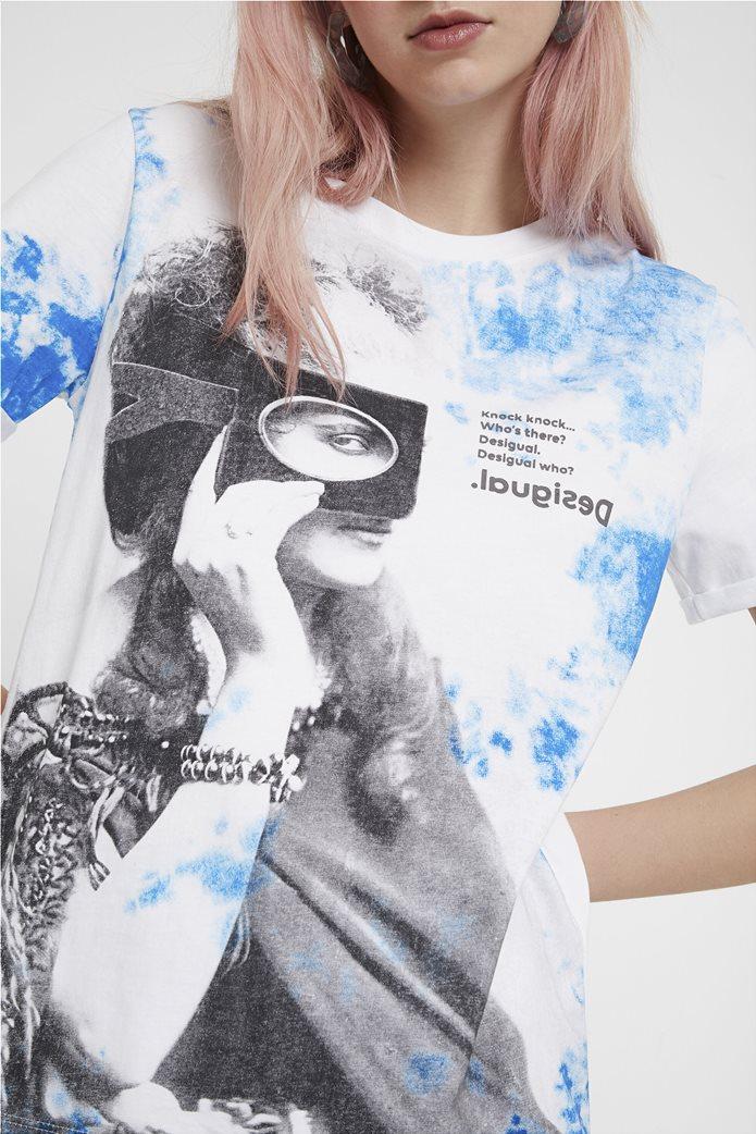 Desigual γυναικείο T-shirt με graphic print 3
