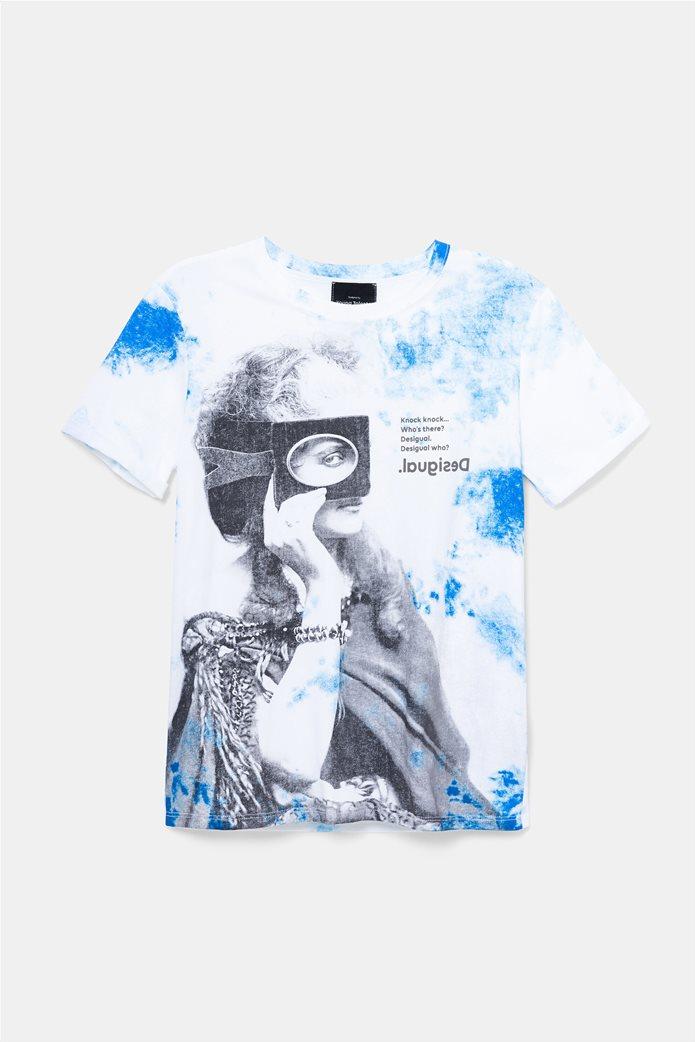 Desigual γυναικείο T-shirt με graphic print 4