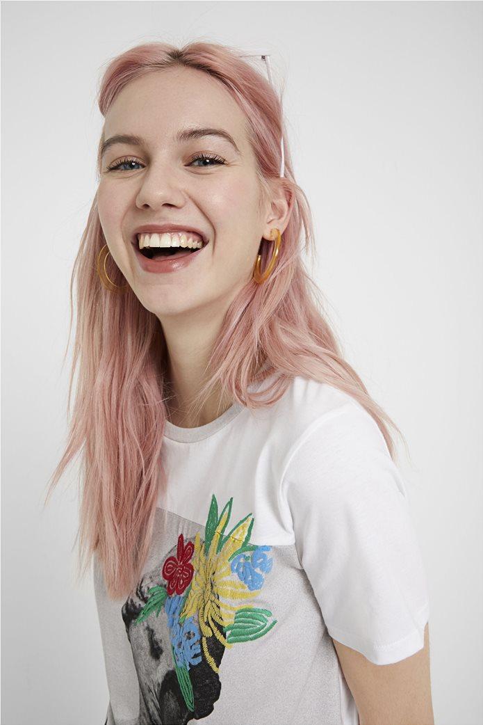 "Desigual γυναικείο T-shirt με sculpture print ""Roma"" 1"