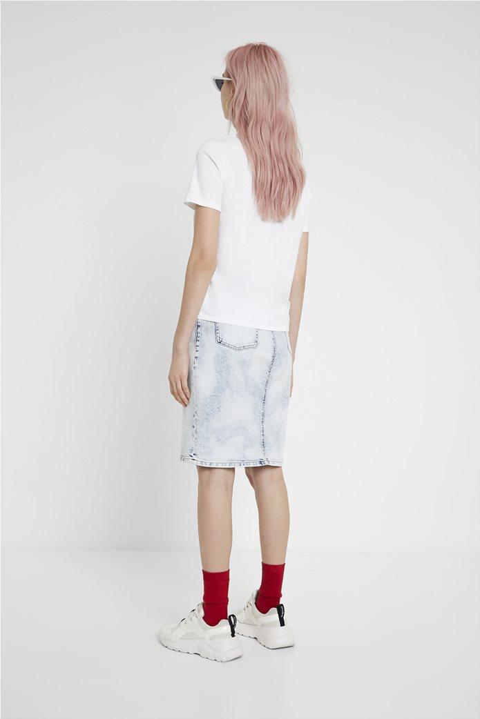 "Desigual γυναικείο T-shirt με sculpture print ""Roma"" 2"
