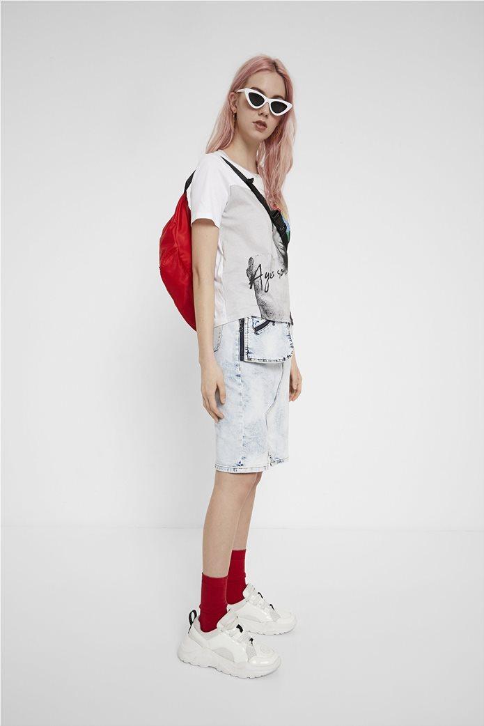 "Desigual γυναικείο T-shirt με sculpture print ""Roma"" 3"