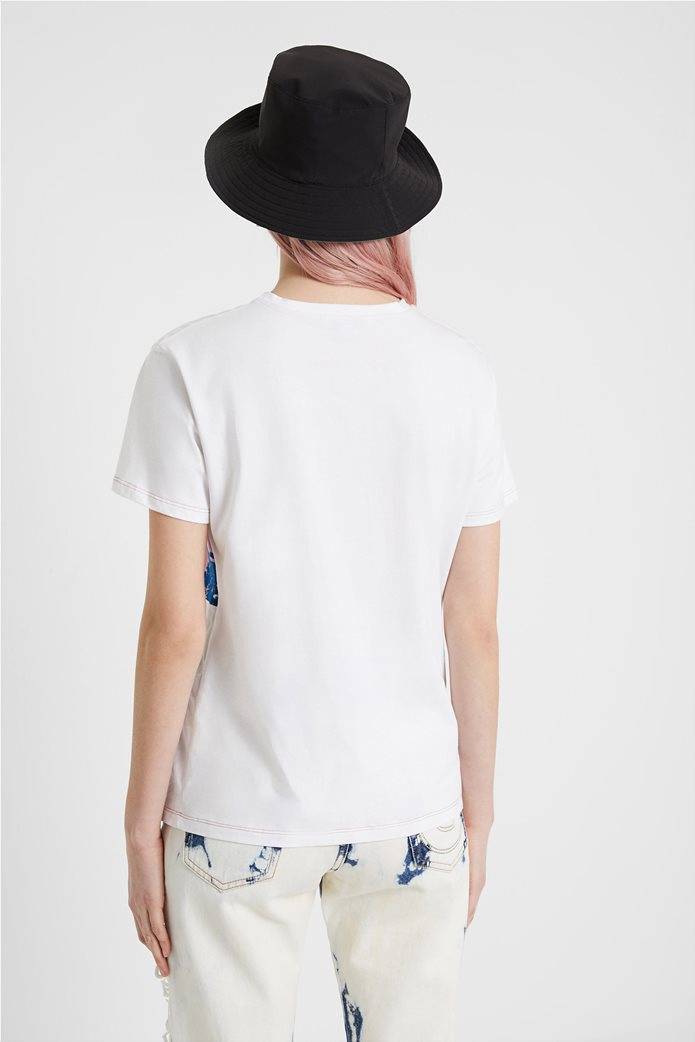 "Desigual γυναικείο T-shirt με surfer print ""Duke"" 2"