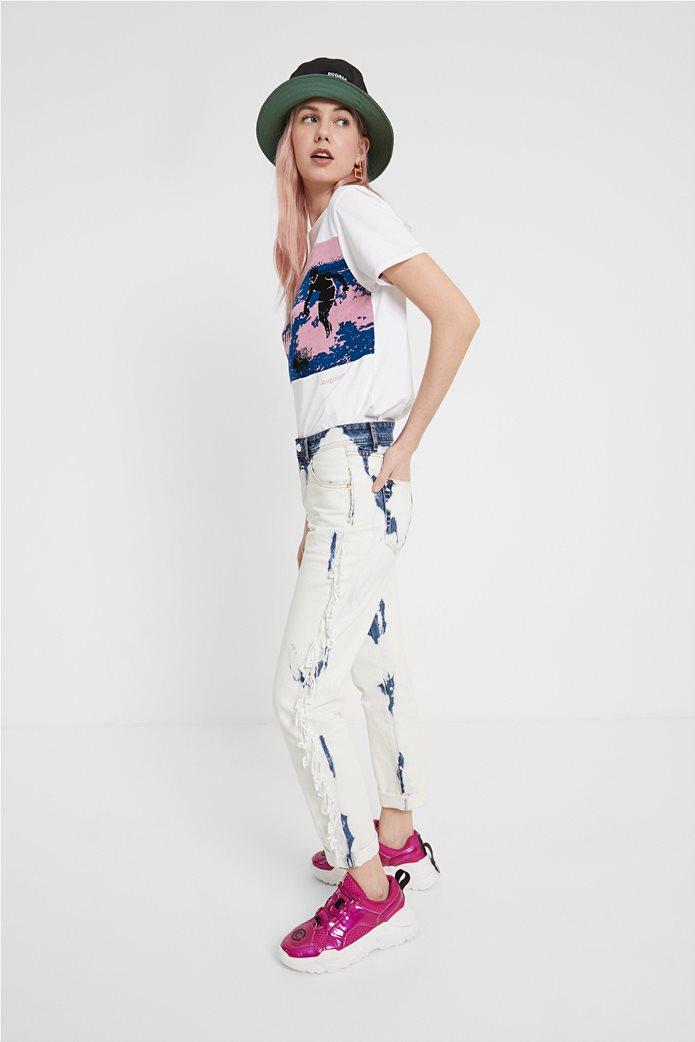 "Desigual γυναικείο T-shirt με surfer print ""Duke"" 3"