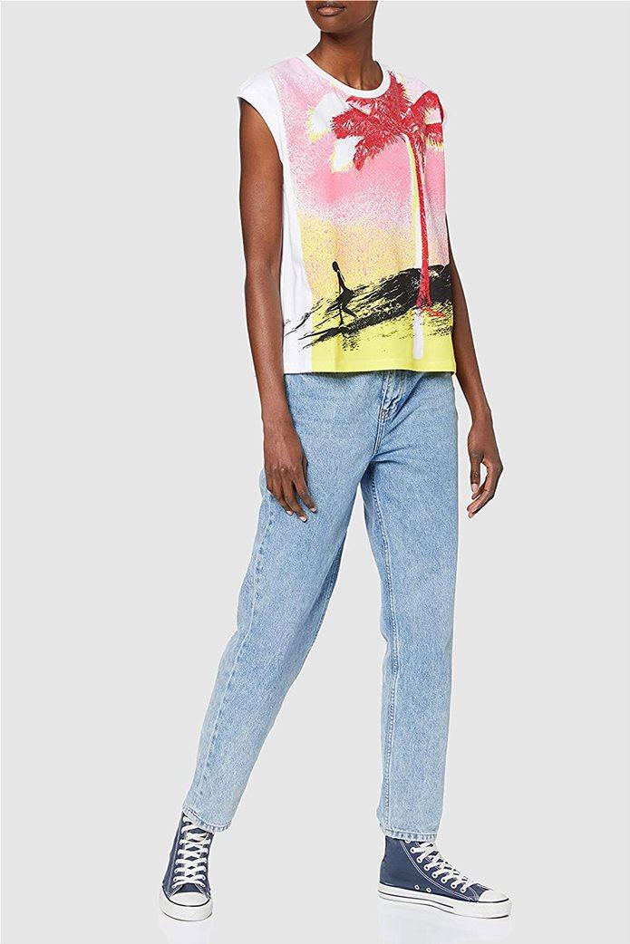 Desigual γυναικεία μπλούζα με tropical print 1