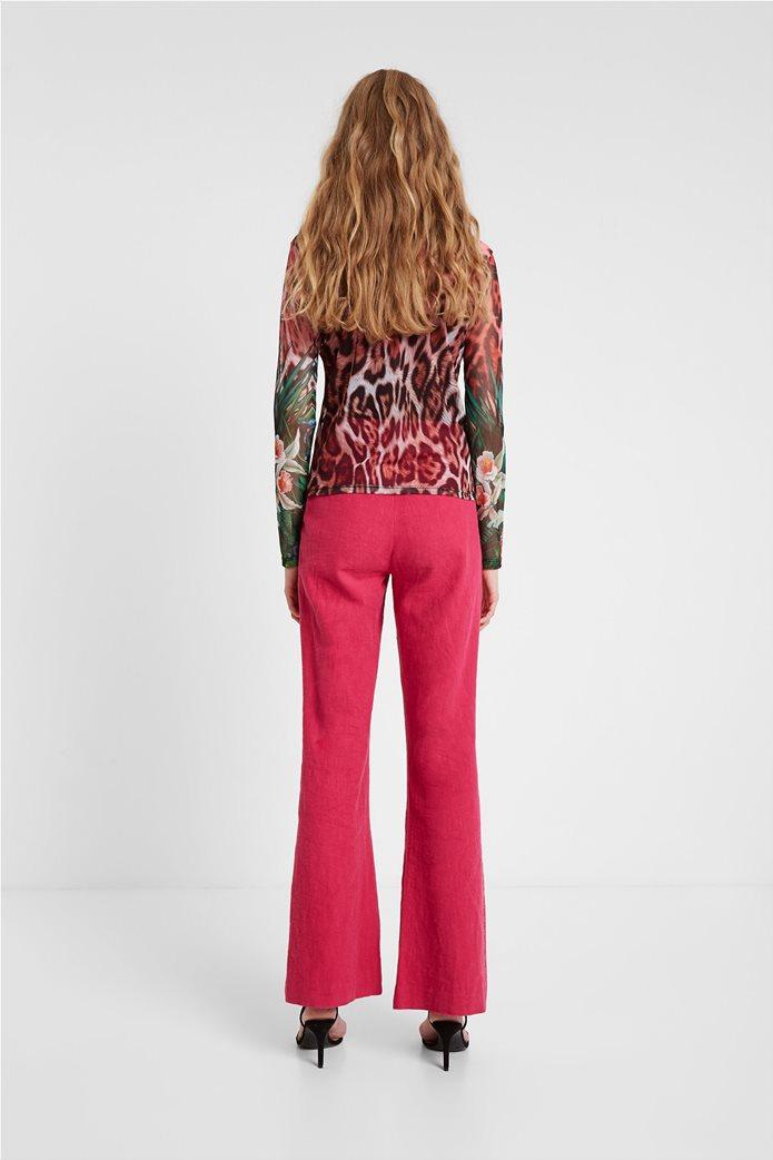"Desigual γυναικεία μπλούζα με leopard print ""Jungla"" 2"