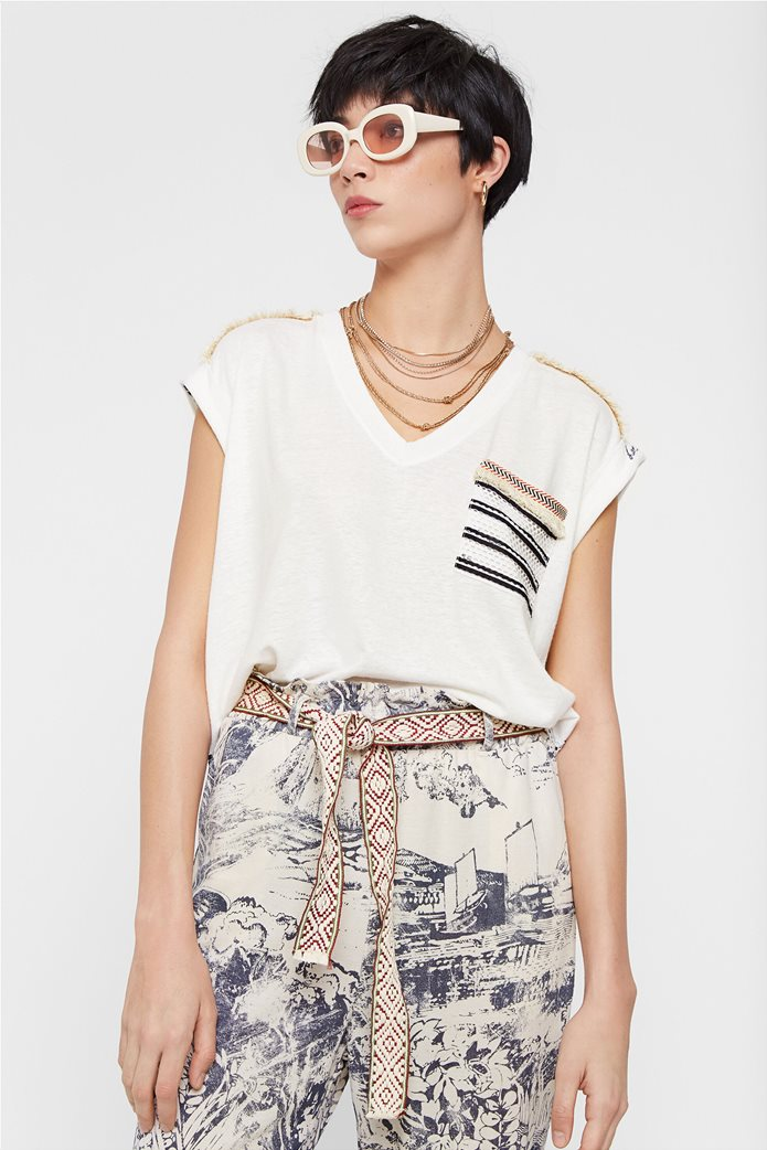 "Desigual γυναικεία μπλούζα με διάτρητο σχέδιο στην πλάτη ""Verona"" 0"