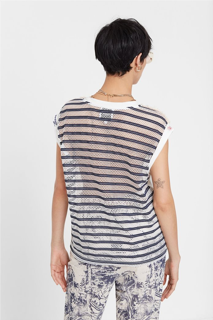 "Desigual γυναικεία μπλούζα με διάτρητο σχέδιο στην πλάτη ""Verona"" 1"