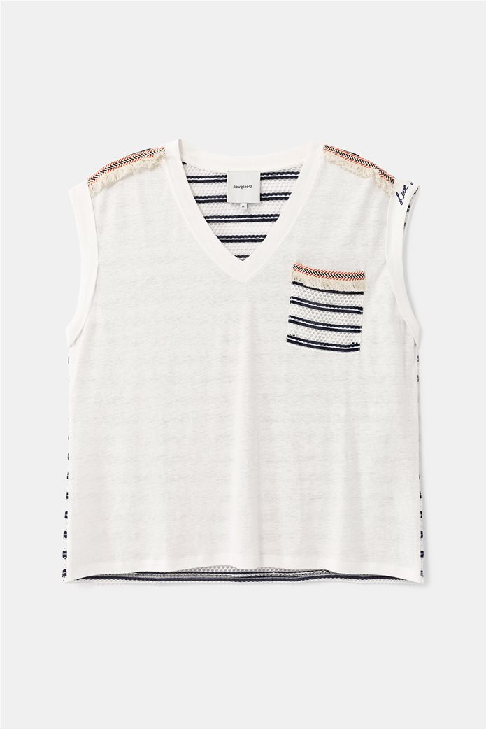 "Desigual γυναικεία μπλούζα με διάτρητο σχέδιο στην πλάτη ""Verona"" 4"