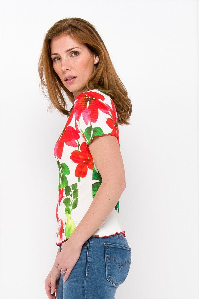 Desigual γυναικεία μπλούζα με hibiscus print 1