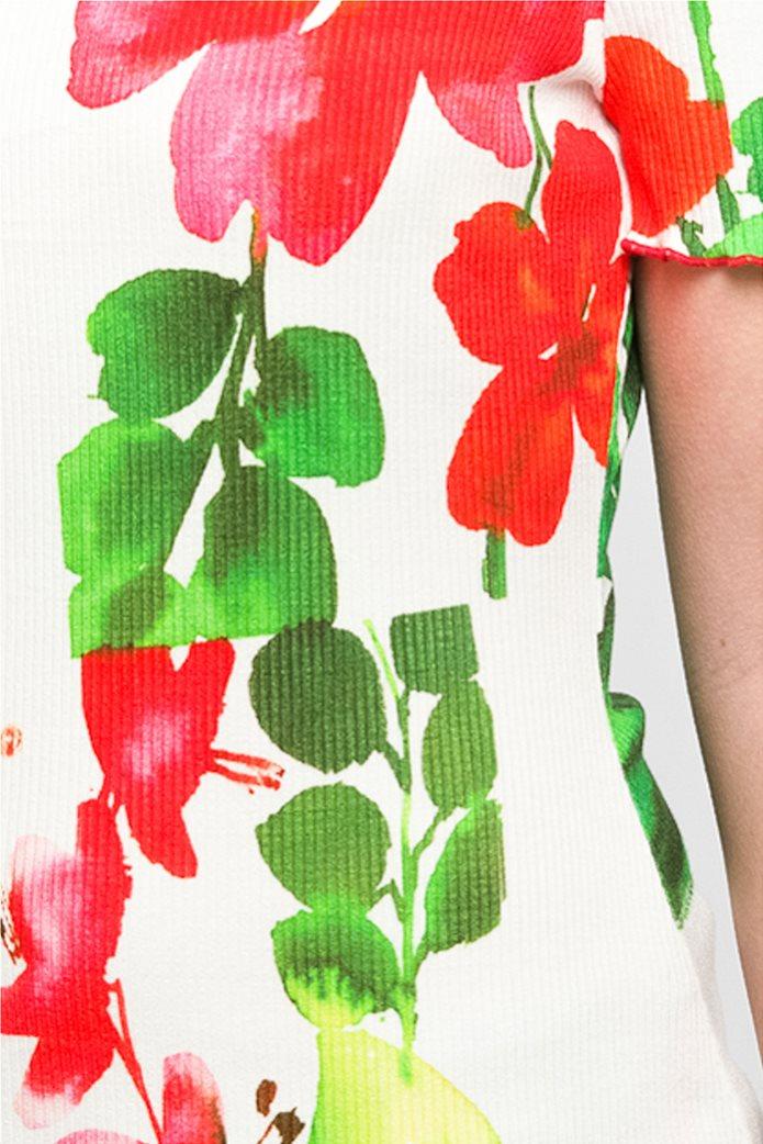 Desigual γυναικεία μπλούζα με hibiscus print 3