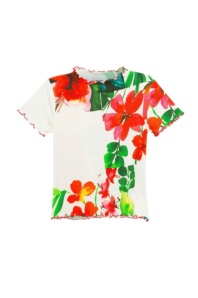 Desigual γυναικεία μπλούζα με hibiscus print 4