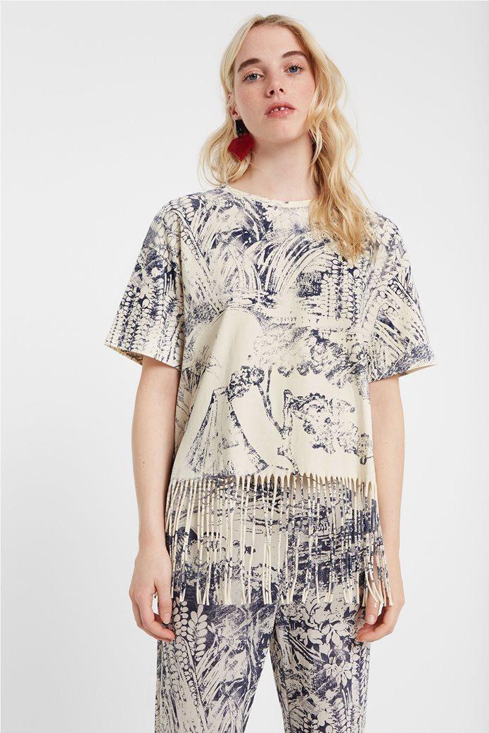 "Desigual γυναικεία μπλούζα με κρόσσια ""Isla"" 0"