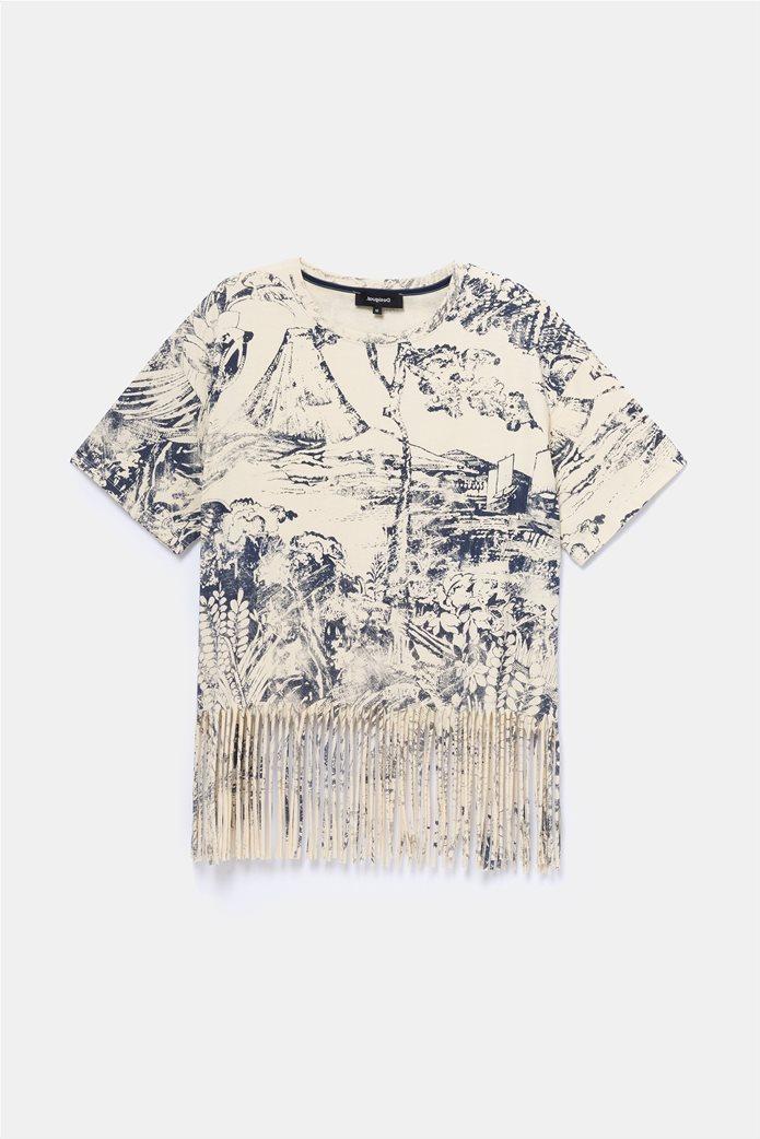 "Desigual γυναικεία μπλούζα με κρόσσια ""Isla"" 4"