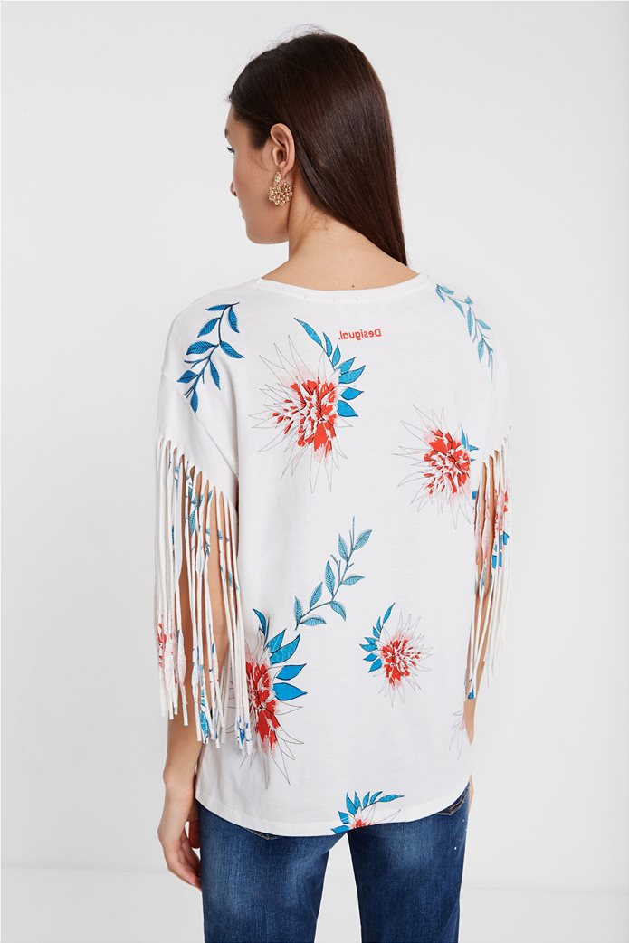 Desigual γυναικεία μπλούζα με tropical print 2