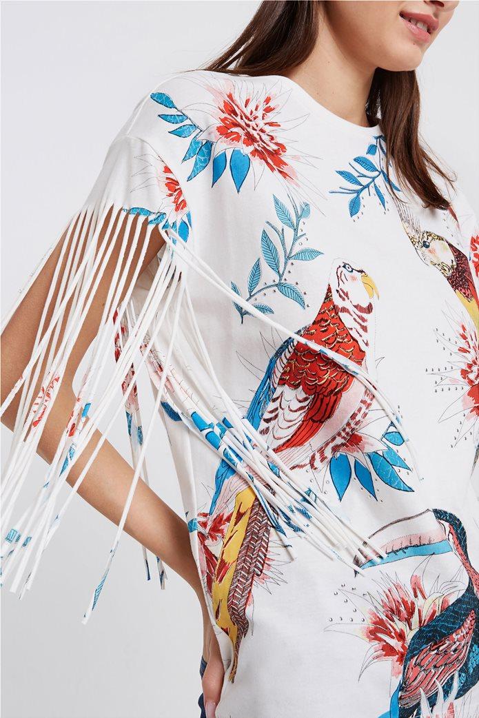 Desigual γυναικεία μπλούζα με tropical print 3