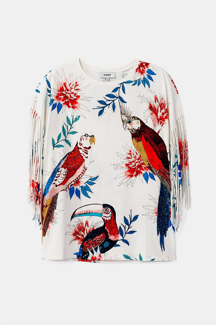 Desigual γυναικεία μπλούζα με tropical print 4