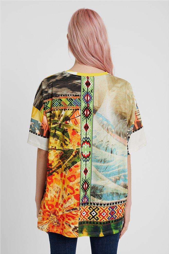 "Desigual unisex μπλούζα με Hawaiian print ""Hawai"" 1"