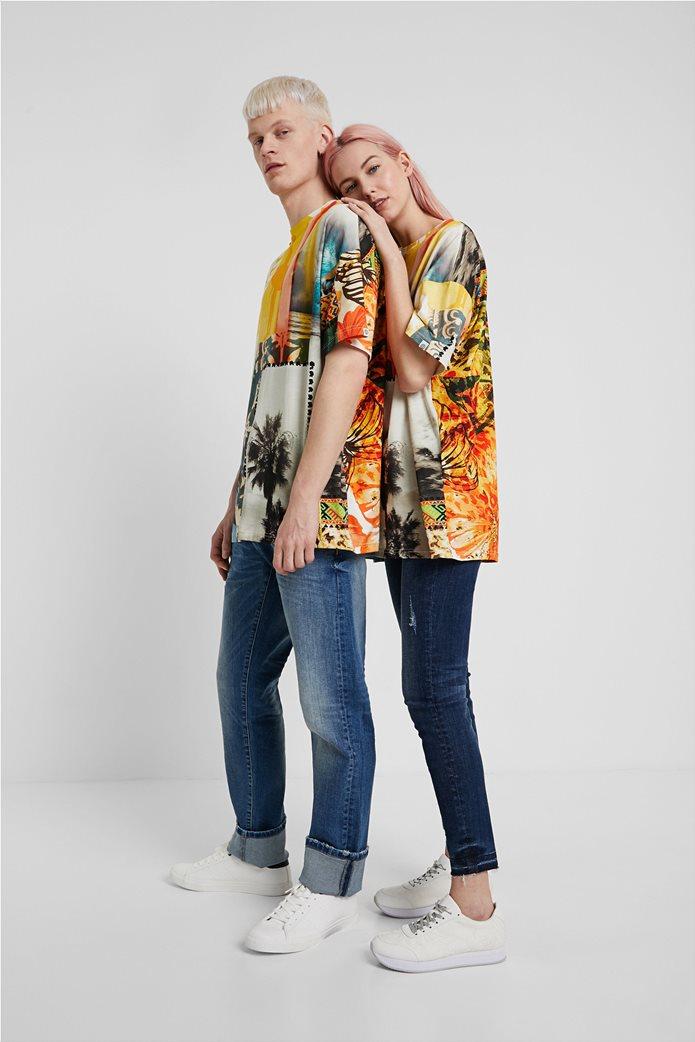 "Desigual unisex μπλούζα με Hawaiian print ""Hawai"" 2"