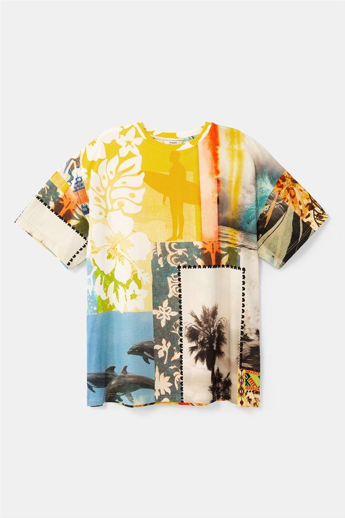 "Desigual unisex μπλούζα με Hawaiian print ""Hawai"" 3"