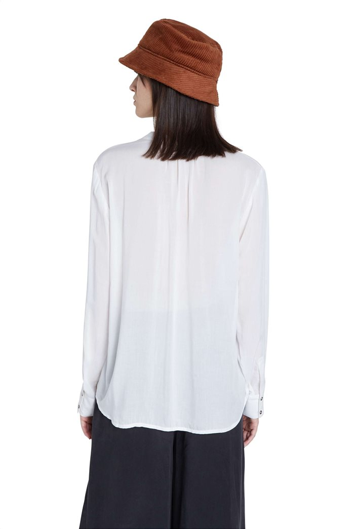 "Desigual γυναικεία μπλούζα με floral print και παγιέτες ""Senda"" Λευκό 2"