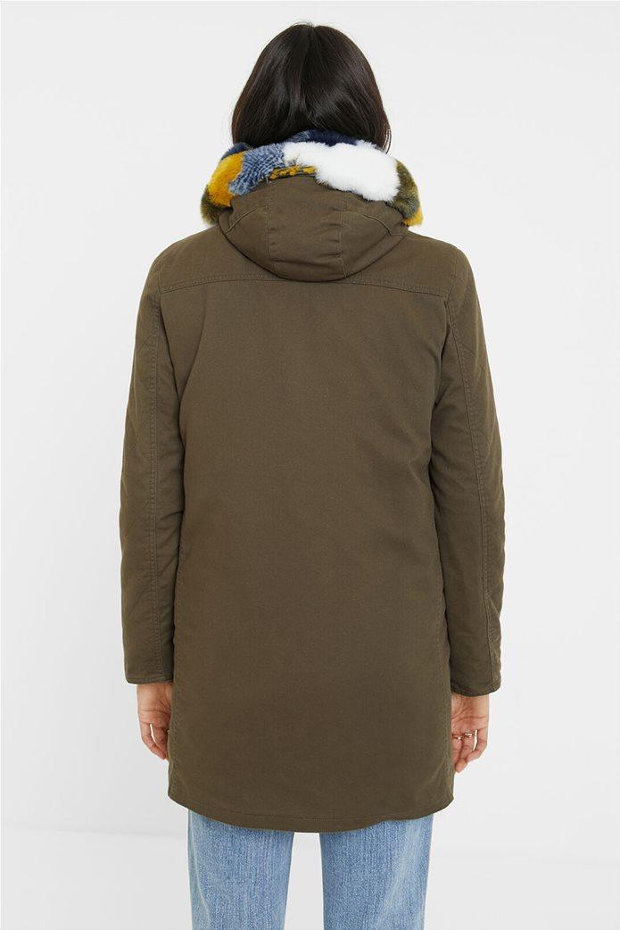 """Desigual γυναικείο μπουφάν παρκά με κουκούλα """"Sigurd"""" Λαδί 2"""