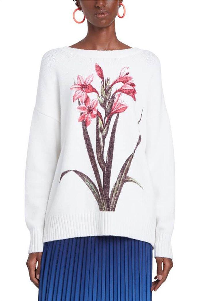 "Desigual γυναικείο πουλόβερ floral ""Yasper"" Λευκό 0"
