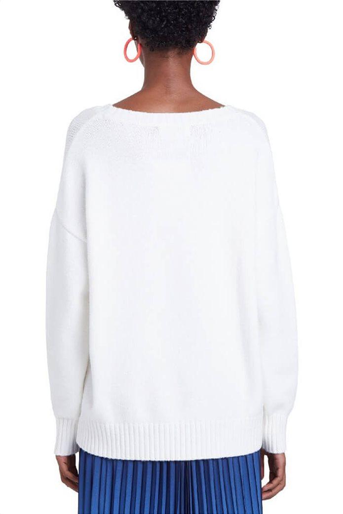 "Desigual γυναικείο πουλόβερ floral ""Yasper"" Λευκό 1"