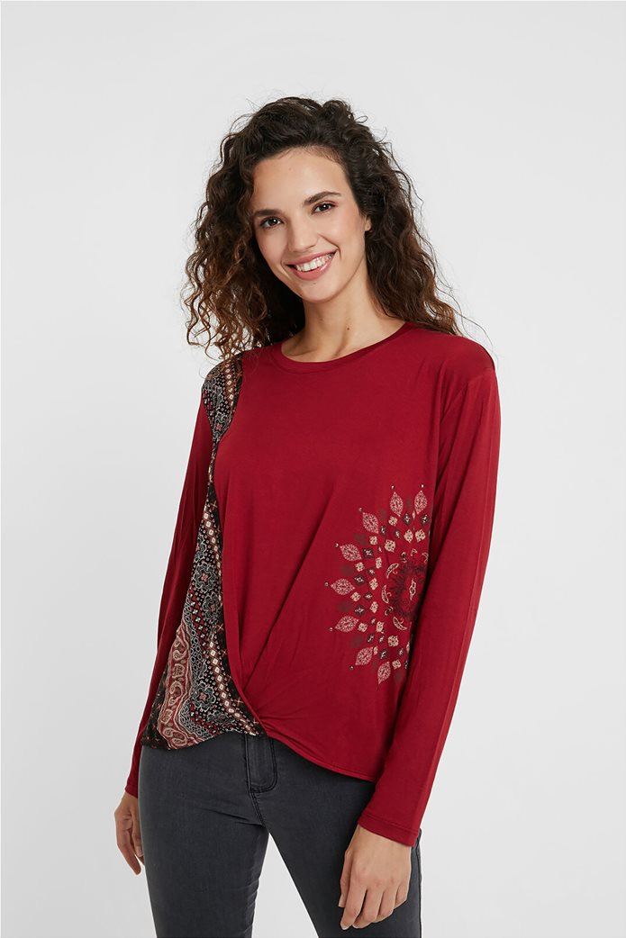 "Desigual γυναικεία μπλούζα Friezes mandala ""Marsella"" Κόκκινο 0"