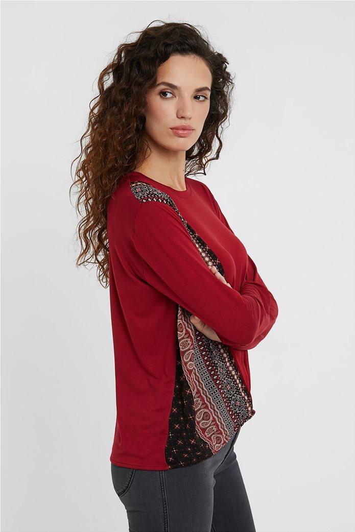 "Desigual γυναικεία μπλούζα Friezes mandala ""Marsella"" Κόκκινο 1"