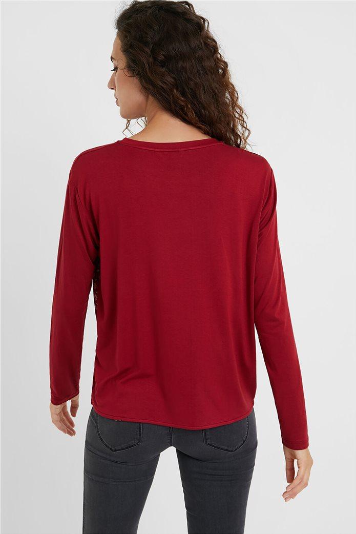 "Desigual γυναικεία μπλούζα Friezes mandala ""Marsella"" Κόκκινο 2"