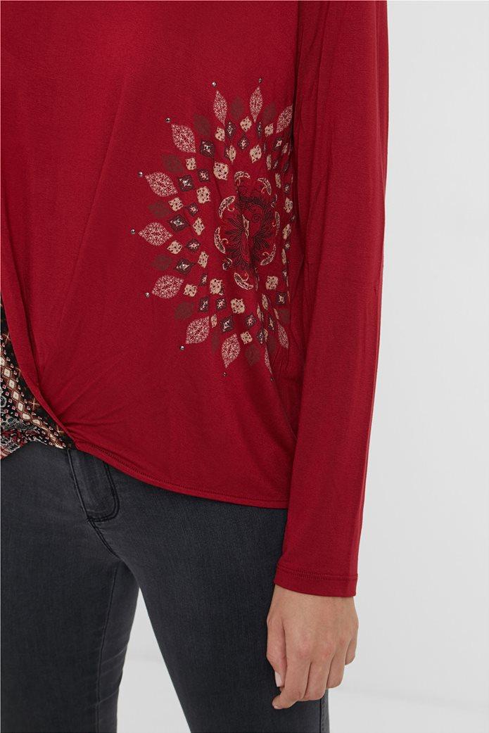 "Desigual γυναικεία μπλούζα Friezes mandala ""Marsella"" Κόκκινο 3"