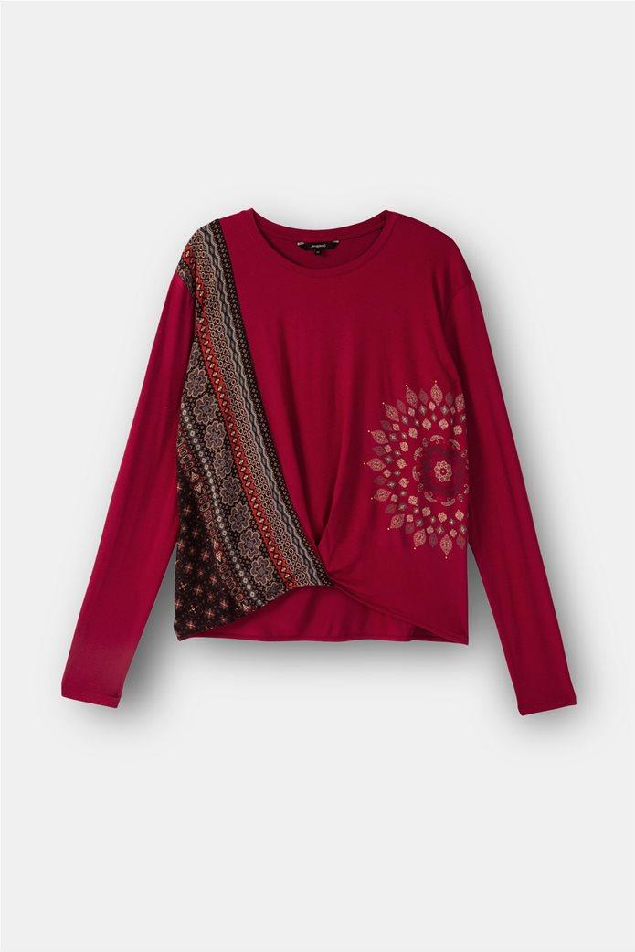 "Desigual γυναικεία μπλούζα Friezes mandala ""Marsella"" Κόκκινο 4"
