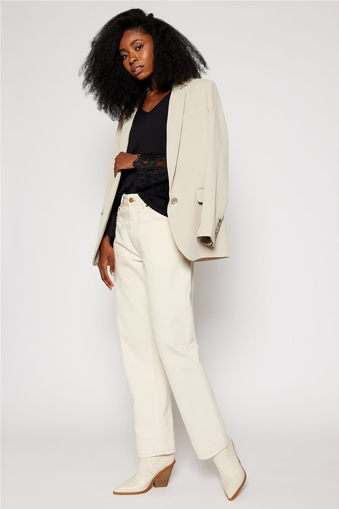 "Desigual γυναικεία μπλούζα με δαντέλα στα μανίκια ""Amelia"" Μαύρο 1"