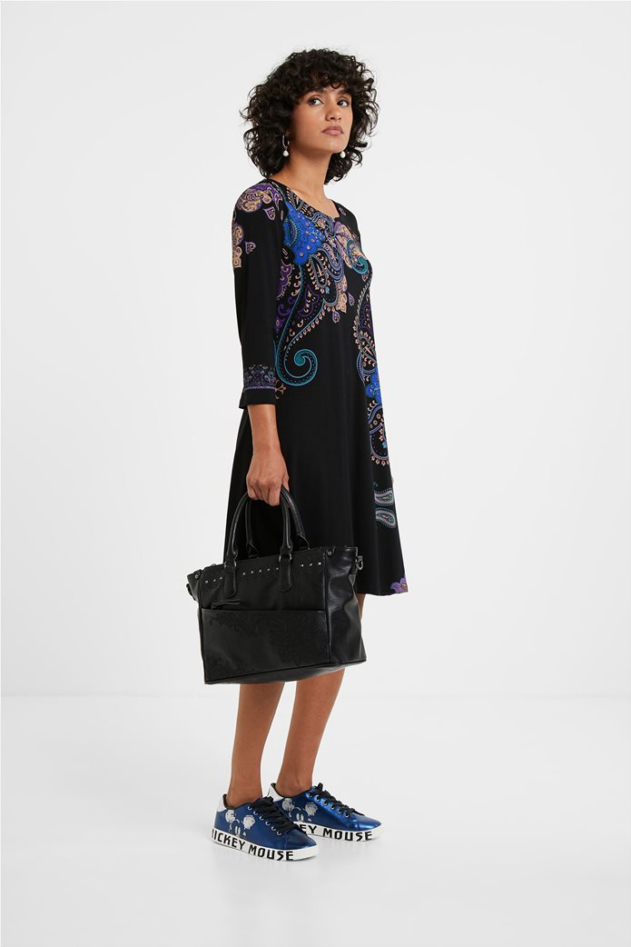 "Desigual γυναικείο mini φόρεμα paisley print ""Washintong"" Μαύρο 2"
