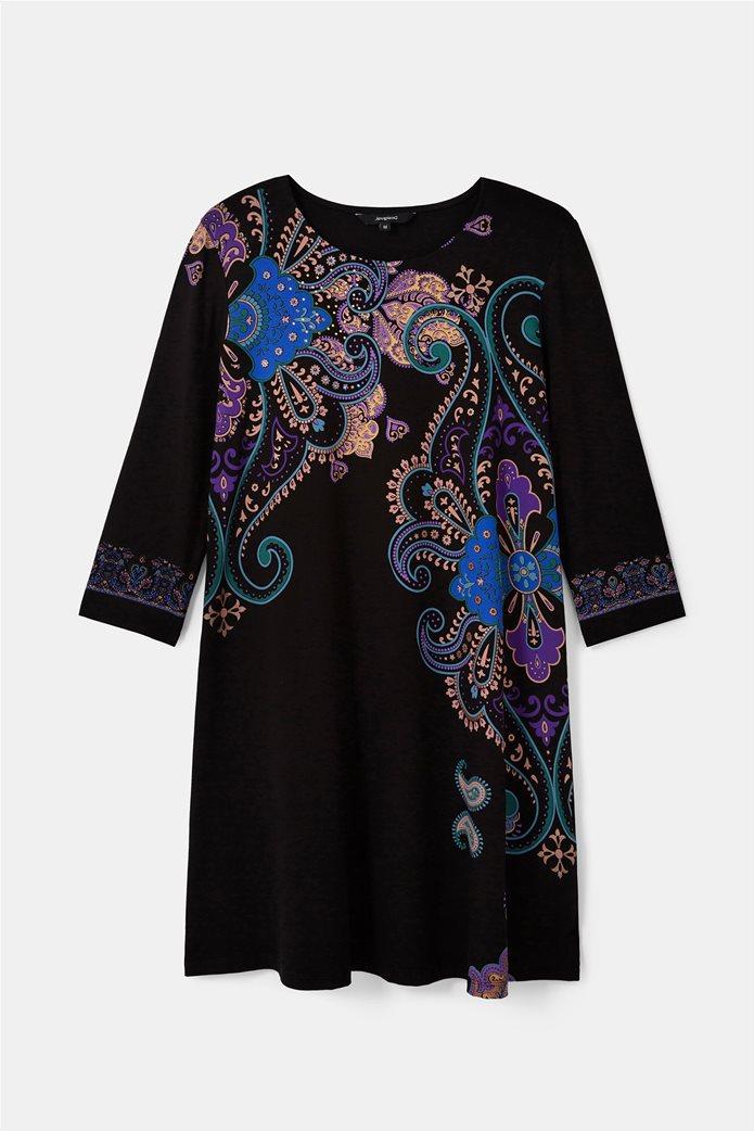 "Desigual γυναικείο mini φόρεμα paisley print ""Washintong"" Μαύρο 5"